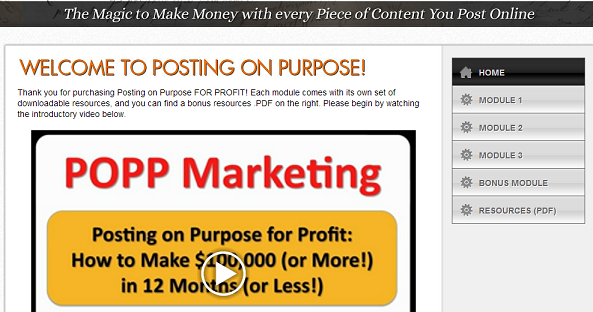 Posting on Purpose for Profit - by Rob Fore