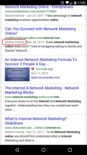 Google Mobile Friendly Tags
