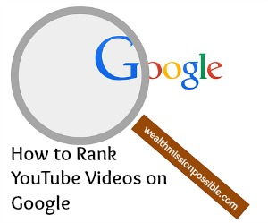 Ranking YouTube Videos on Google