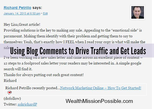 Using Blog Comment to Drive Traffic and Get Leads