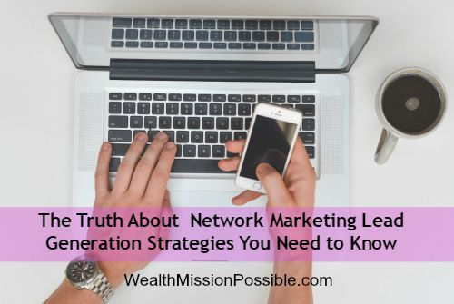 Online network marketing lead generation