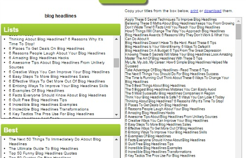 Tweak Your Biz Headlines Generator