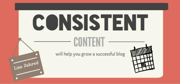 Consistent blog content