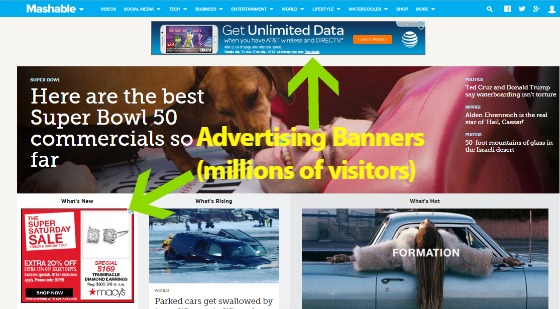 Mashable Ad Banners