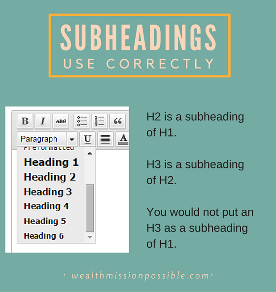 Blog Post Subheadings