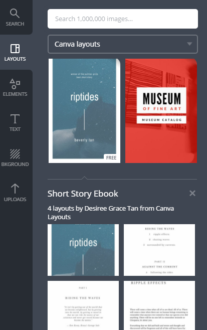 Use Canva templates for your ebook giveaway