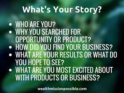 Sharing your MLM story