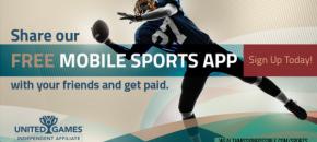 United Mobile sports app affiliate invite