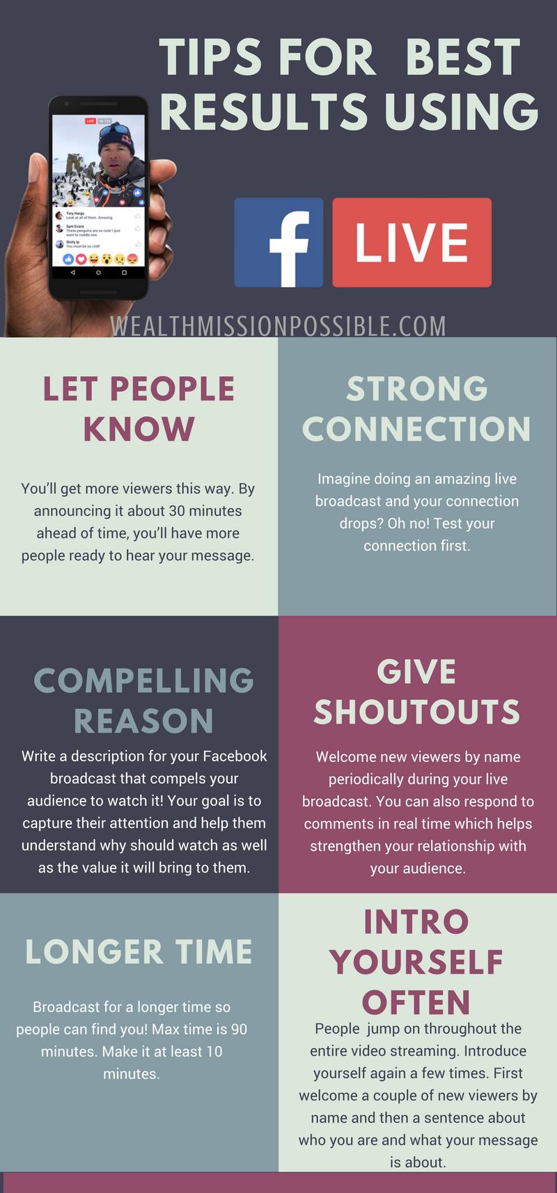 Best tips for Facebook Live