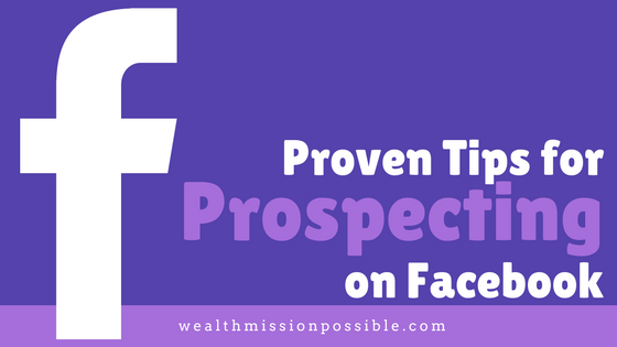 Facebook prospecting for MLM