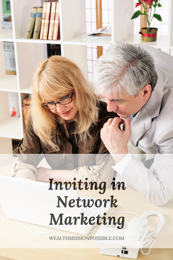 Learn how to invite in network marketing. Get more people to your business presentation.