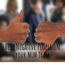 deal with negative people in mlm